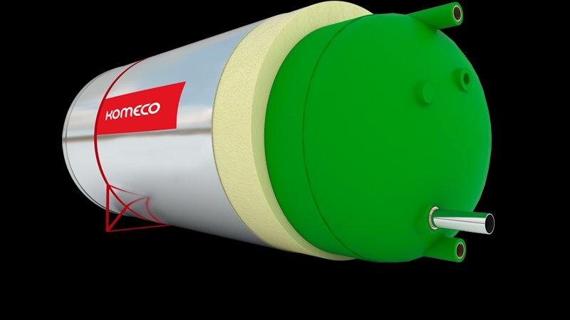 Reservatório Térmico (boiler) Komeco 500 Litros Inox 316 Bp