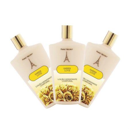 Hidratante Amber Love - PS6008- Kit 3... Kit 3 unidades Mesma fragância