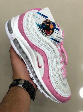 air max 97 branco com rosa online -