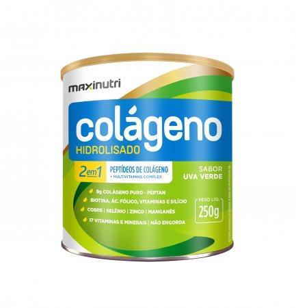 Colágeno Hidrolisado 2 em 1 Uva Verde 250g