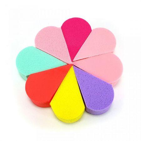 Kit 8 Esponjas Triangulares Flor La R... Esponja Para Pinceis