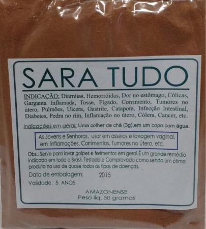 SARA TUDO EM PÓ - 50g