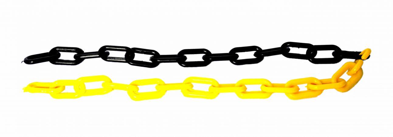 Corrente zebrada 6mm preta e amarela