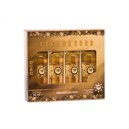 Estojo Miniatura Ouro 50 ML 4 unidades