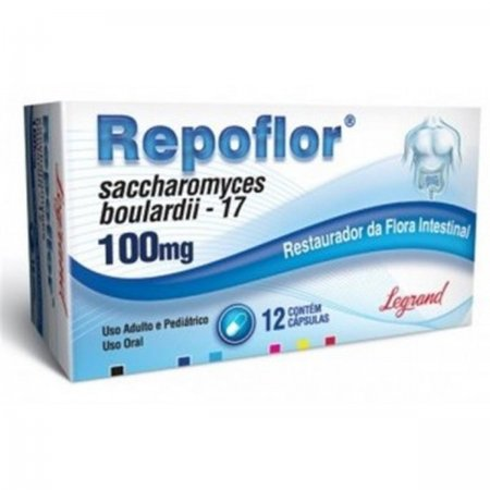 Repoflor 100mg C/12 Capsulas