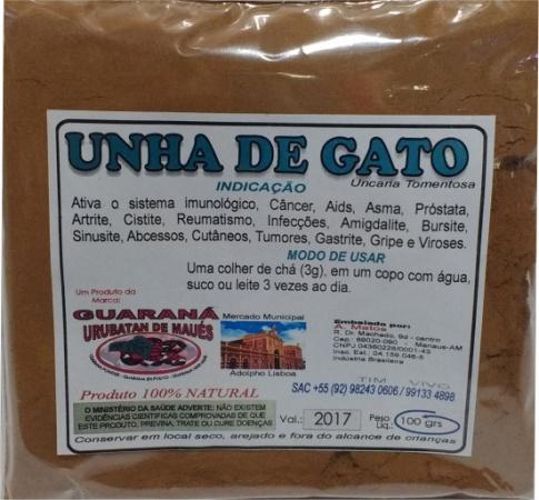 UNHA DE GATO EM PÓ - 100g