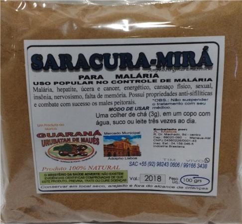 SARACURA MIRÁ EM PÓ - 100g