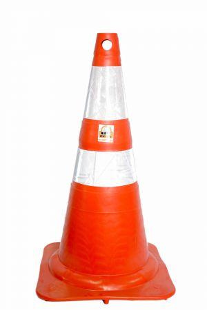 Cone emborrachado 75 cm com faixa