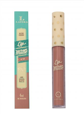 Batom Liquido Matte Nude 34 4ml  Batom Latika Lip Nude N°34