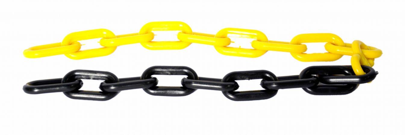 Corrente zebrada 10mm preta e amarela