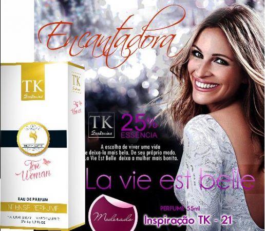 Perfume Classico SK 21 - Inspirado La Vie Est Belle – Lancome 55ML Contra Tipo La Vie Est Belle