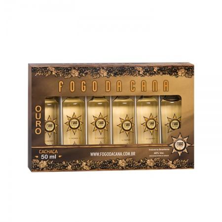 Estojo Miniatura Ouro 50 ML 6 unidades