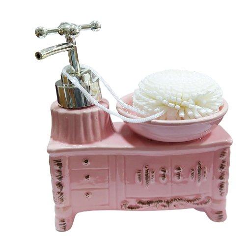 Porta Sabonete Liquido - Rosa