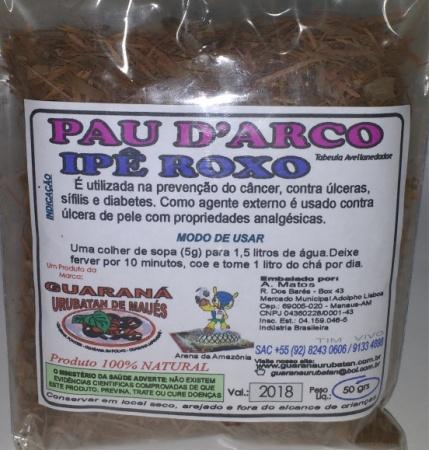 IPÊ ROXO OU PAU DARC EM PÓ 50G