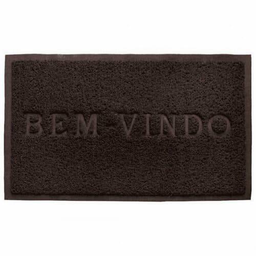 Capacho Bem Vindo PVC - Camesa  Marrom Cores