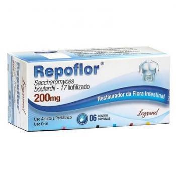 Repoflor 200mg C/6 Capsulas