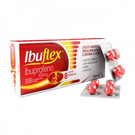 Ibuflex 400mg c/8 Capsulas Gelatinosas