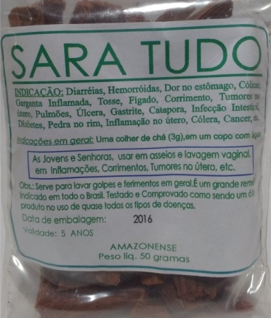 SARA TUDO EM RAMA - 50g